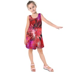 Color Abstract Background Textures Kids  Sleeveless Dress by Sapixe