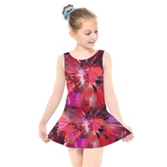 Color Abstract Background Textures Kids  Skater Dress Swimsuit