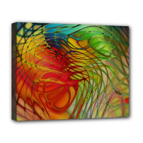 Texture Art Color Pattern Deluxe Canvas 20  X 16  (stretched) by Sapixe