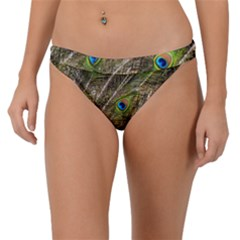 Peacock Feathers Color Plumage Green Band Bikini Bottom by Sapixe