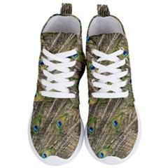 Peacock Feathers Color Plumage Green Women s Lightweight High Top Sneakers by Sapixe