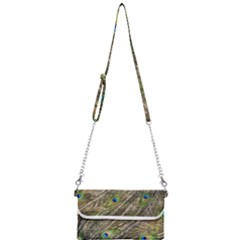 Peacock Feathers Color Plumage Green Mini Crossbody Handbag by Sapixe
