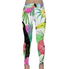 Leaves Tropical Nature Green Plant Classic Yoga Leggings