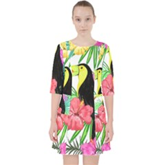Leaves Tropical Nature Green Plant Pocket Dress