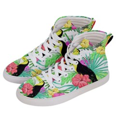 Leaves Tropical Nature Green Plant Women s Hi Top Skate Sneakers by Sapixe