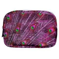 Peacock Feathers Color Plumage Make Up Pouch (small)