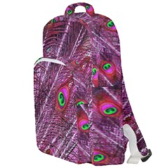 Peacock Feathers Color Plumage Double Compartment Backpack by Sapixe