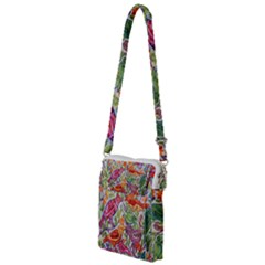Art Flower Pattern Background Multi Function Travel Bag by Sapixe