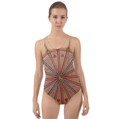 York Minster Chapter House Cut Out Back One Piece Swimsuit