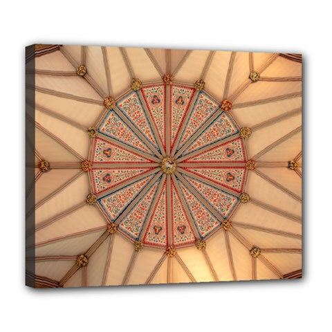 York Minster Chapter House Deluxe Canvas 24  X 20  (stretched) by Sapixe