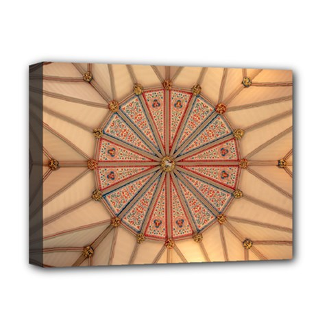 York Minster Chapter House Deluxe Canvas 16  X 12  (stretched)