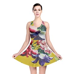 Textile Printing Flower Rose Cover Reversible Skater Dress