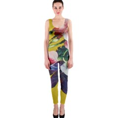 Textile Printing Flower Rose Cover One Piece Catsuit