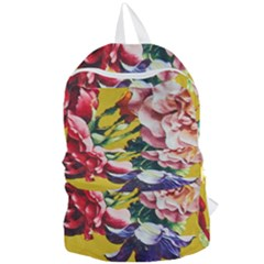 Textile Printing Flower Rose Cover Foldable Lightweight Backpack