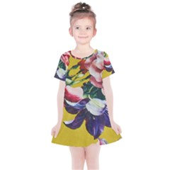 Textile Printing Flower Rose Cover Kids  Simple Cotton Dress by Sapixe