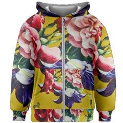 Textile Printing Flower Rose Cover Kids Zipper Hoodie Without Drawstring