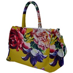 Textile Printing Flower Rose Cover Duffel Travel Bag