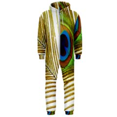 Peacock Feather Plumage Colorful Hooded Jumpsuit (men)