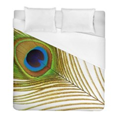 Peacock Feather Plumage Colorful Duvet Cover (full/ Double Size)