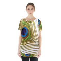 Peacock Feather Plumage Colorful Skirt Hem Sports Top