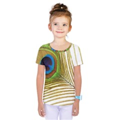 Peacock Feather Plumage Colorful Kids  One Piece Tee