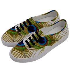 Peacock Feather Plumage Colorful Men s Classic Low Top Sneakers by Sapixe