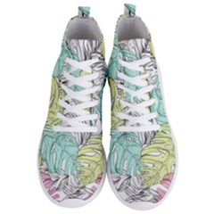 Leaves Tropical Nature Plant Men s Lightweight High Top Sneakers