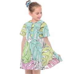 Leaves Tropical Nature Plant Kids  Sailor Dress