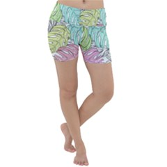 Leaves Tropical Nature Plant Lightweight Velour Yoga Shorts