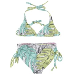 Leaves Tropical Nature Plant Kids  Classic Bikini Set