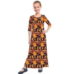 Surfing Kids  Quarter Sleeve Maxi Dress by ArtworkByPatrick