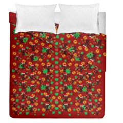 Christmas Time With Santas Helpers Duvet Cover Double Side (queen Size) by pepitasart