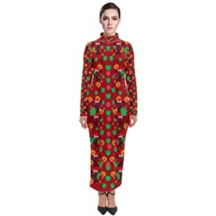Christmas Time With Santas Helpers Turtleneck Maxi Dress