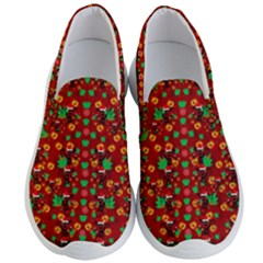 Christmas Time With Santas Helpers Men s Lightweight Slip Ons by pepitasart