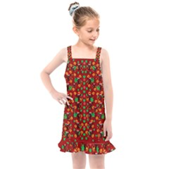 Christmas Time With Santas Helpers Kids  Overall Dress