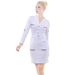 Mushrooms Life Spin Button Long Sleeve Dress