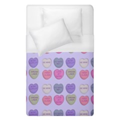 Valentine Hearts Lilac Duvet Cover (single Size) by snowwhitegirl