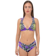Pineapple Purple Double Strap Halter Bikini Set by snowwhitegirl