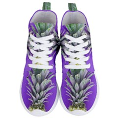 Pineapple Purple Women s Lightweight High Top Sneakers by snowwhitegirl