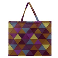 Fall Geometric Pattern Zipper Large Tote Bag by snowwhitegirl