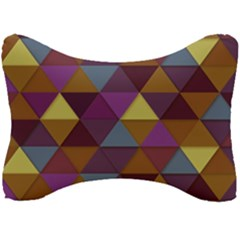 Fall Geometric Pattern Seat Head Rest Cushion by snowwhitegirl