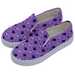 Kawaii Grape Rootbeer Kids  Canvas Slip Ons by snowwhitegirl