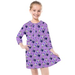 Kawaii Grape Rootbeer Kids  Quarter Sleeve Shirt Dress by snowwhitegirl