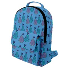 Pears Aqua Flap Pocket Backpack (small) by snowwhitegirl