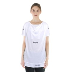 Polar Bear Family  Skirt Hem Sports Top