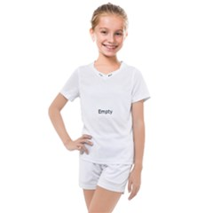 Polar Bear Family  Kids  Mesh Tee And Shorts Set by Valentinaart