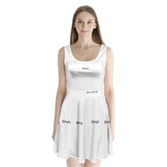 Polar Bear Family  Split Back Mini Dress