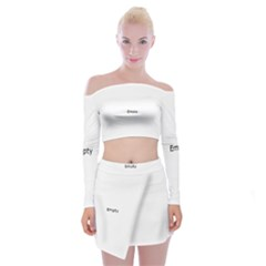 Polar Bear Family  Off Shoulder Top With Mini Skirt Set