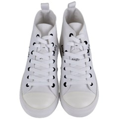 Polar Bear Family  Women s Mid Top Canvas Sneakers