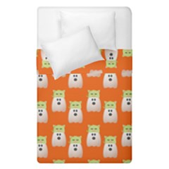Ghost Pet Orange Duvet Cover Double Side (single Size) by snowwhitegirl